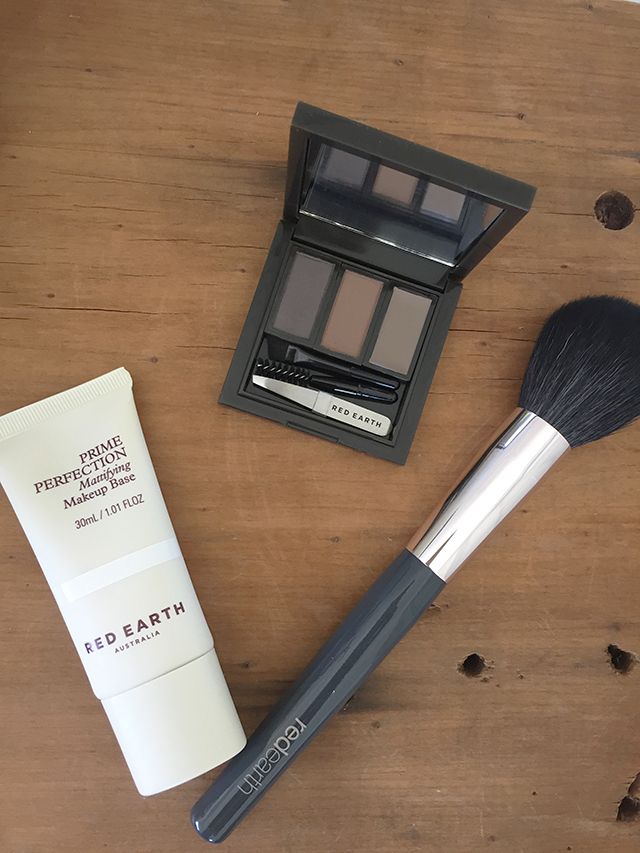 red earth brow kit makeup brush primer liv lundelius makeup artist launch review